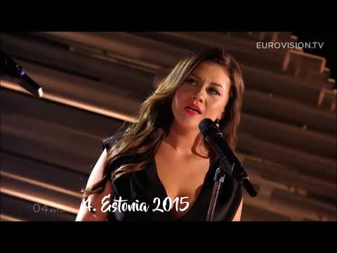 My Top 50 Eurovision Songs (2009-2018)