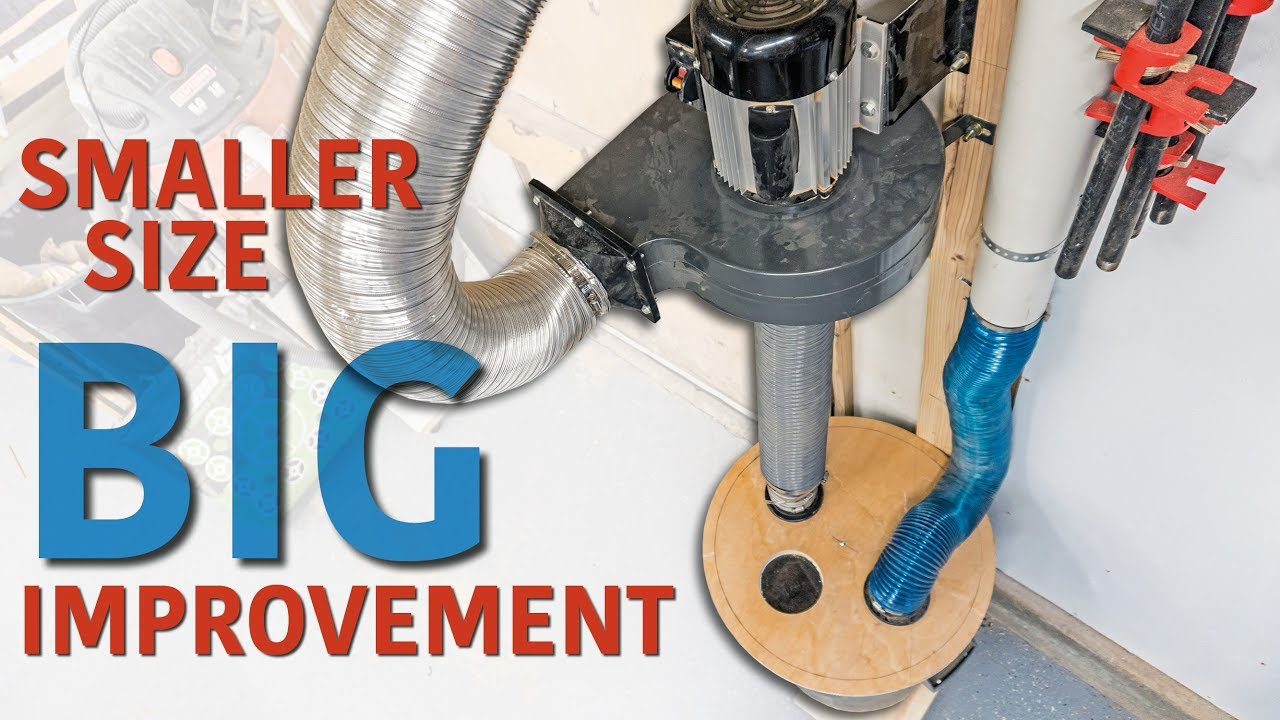 Dust Collector Upgrade Separator Amp Exhaust Youtube