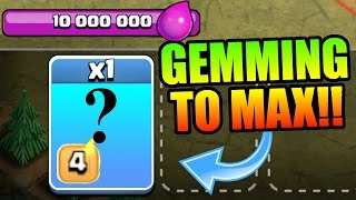 Clash Of Clans | MYSTERY GEMMING!?! WHAT HAVE I GEMMED TO MAX LEVEL!?!