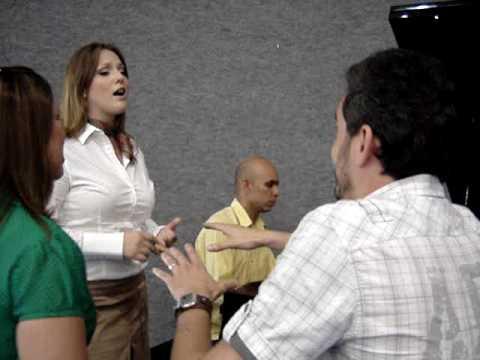 Ensaio antes do JA - Riane, Allan e Joyce - IASD CENTRAL CTBA