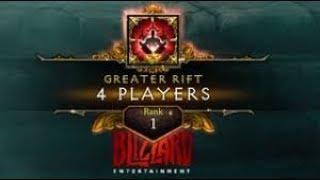 Diablo 3 | GR150 4 Players | Rank 1 EU ( 12:53 - Barb PoV )