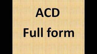 ACD full form