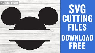 Mickey Monogram Svg Free Cutting Files for Silhouette Cameo Instant Download