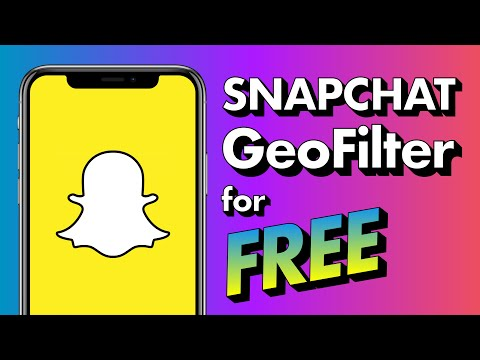 How To Make A FREE Snapchat GeoFilter - 2019 Update