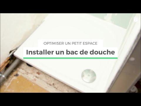 Installation encastr e receveur de douche panneaux x doovi - Remplacer bac de douche ...