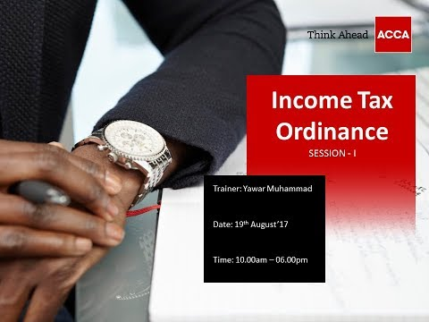 Income Tax Ordinance   Session I