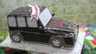 торт MERCEDES G-Class cake
