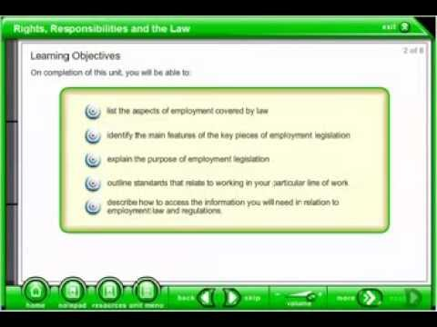 Understand Employment, Rights and Responsibilities Generic Online Course Demo