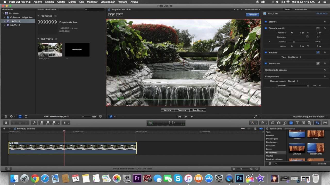 PAN AND ZOOM en Final Cut Pro X - YouTube