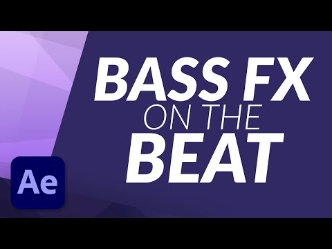 How To Create a Bass Bounce Effect on the Beat of Your Music/Song in After Effects Tutorial