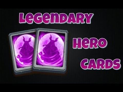 Opening 70 LEGENDARY Hero Cards IS Skull KNIGHT Possible Castle ClashCastle