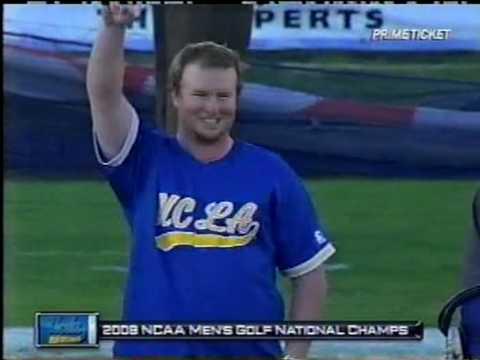 UCLA Mens 2008 NCAA champions get rings at football game