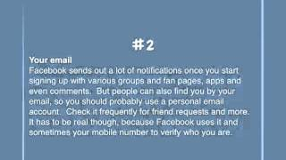 Tip 2: Your Facebook email address