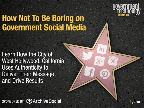 How Not To Be Boring on Government Social Media: West Hollywood, California
