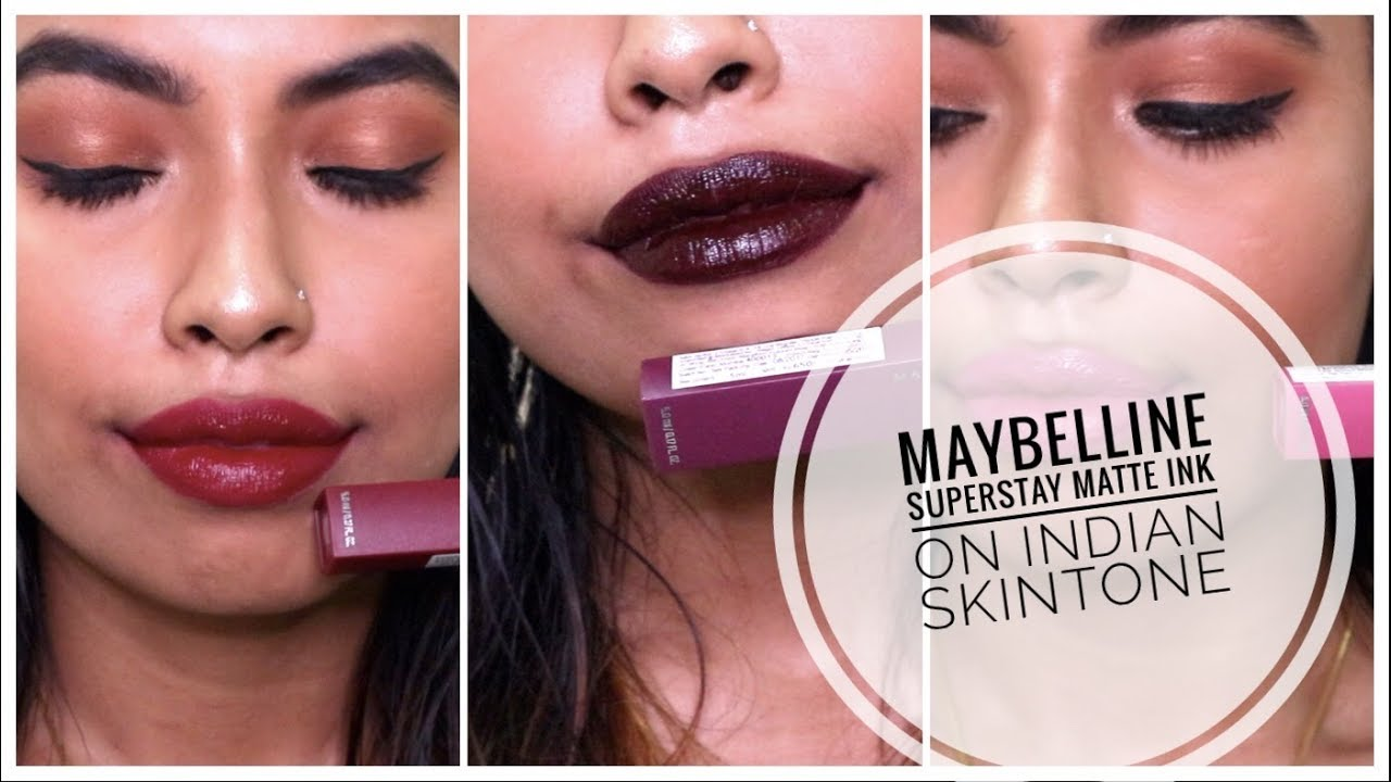 Maybelline Superstay Matte Ink India Review Swatches On Medium