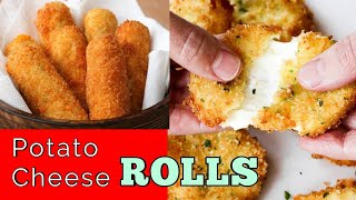 Potato Cheese Balls | Potato cheese Roll | Quick easy simple snacks Recipe