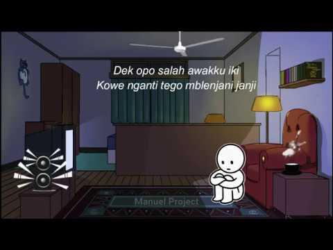 Lirik Lagu Dan Animasi Cidro Lagu Cidro Galau Sobat Ambyar Youtube
