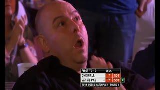 Hilarious Reaction to Benito van de Pas 135 Checkout - 2016 PDC World Matchplay
