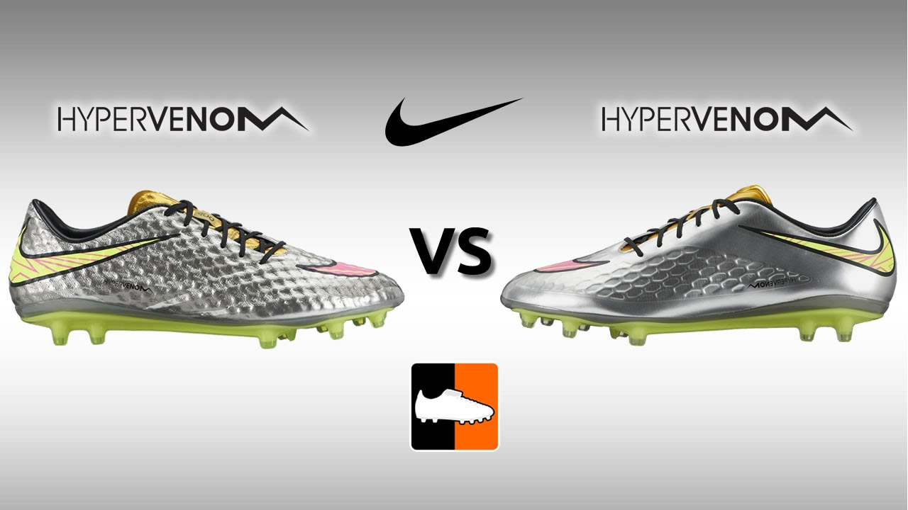 the best attitude 74e92 49563 Nike Hypervenom Phantom vs. Phatal Football Boots Comparison - YouTube