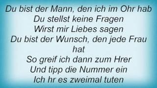 Rosenstolz - Mann Im Ohr Lyrics