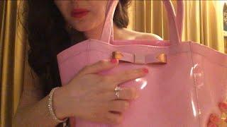 ASMR Ted Baker Handbag, Wallet Dusky Pink, Hand Massage, Angel perfume, Estee lauder Bag
