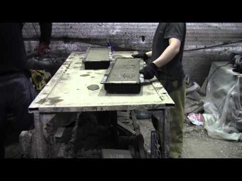 Технология производства садового бордюра (поребрика) http://smolelitbeton.ru