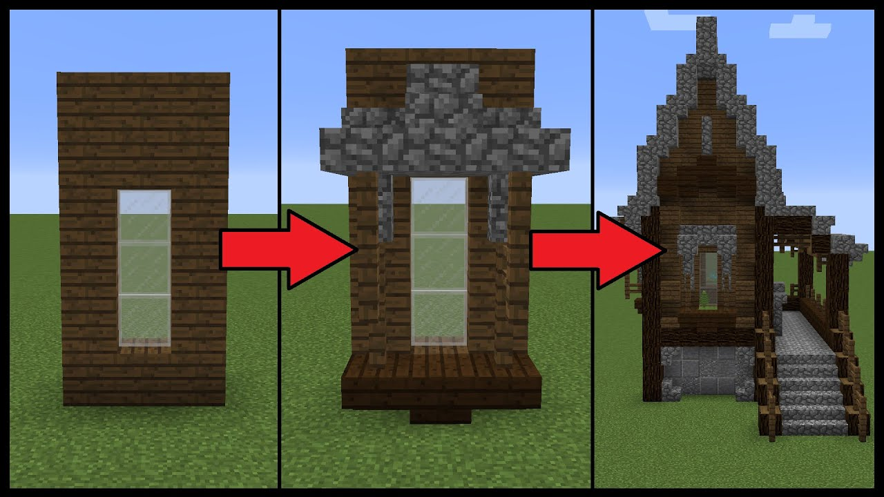 How To Make Better Windows On Your Minecraft House Youtube