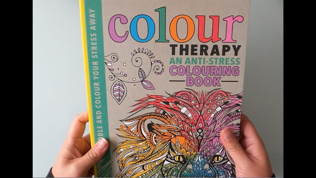 Colour Therapy - an anti-stress colouring book - YouTube