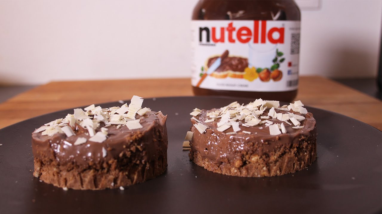 cheese cake nutella recette sans cuisson youtube. Black Bedroom Furniture Sets. Home Design Ideas