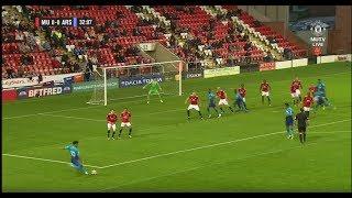 Reiss Nelson free-kick goal vs Manchester United (HD)