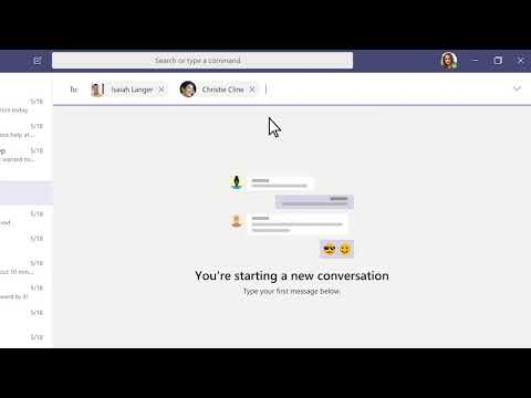 Start And Monitor A Chat In Teams