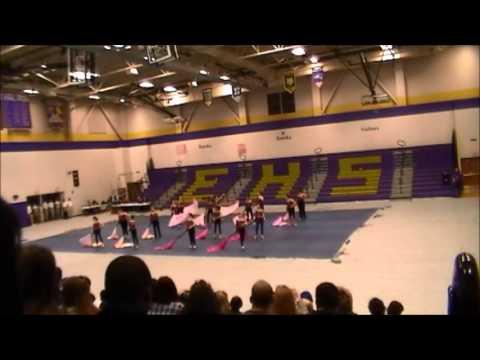 Lindbergh Middle School Winter Guard Pink