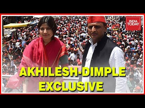 Akhilesh-Dimple Yadav Exclusive Interview; Akhilesh Says Congress And BJP Are Same