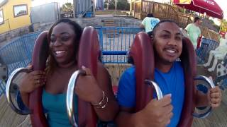 Shujuana first time on a Sling Shot ride