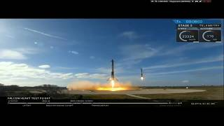 FALCON HEAVY START, ENGINE LANDING | LIVE FROM SPACEX [REPLAY]