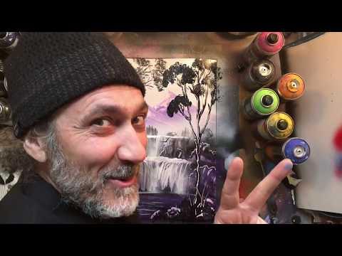 "PURPLE PARADISE, ""ITALIANO"" Spray PAINT Art TUTORIAL SPIEGATO, by Planet Spray Art- Mauro Sposito thumbnail"