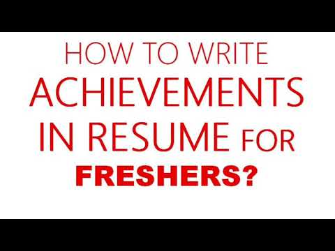 How To Write Achievements In Resume For Freshers, 2019 [Hindi]