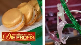 XXL-Meerjungfrau-Kuchen mit leckeren Macarons | Verkostung | Das große Backen - Die Profis  | SAT.1
