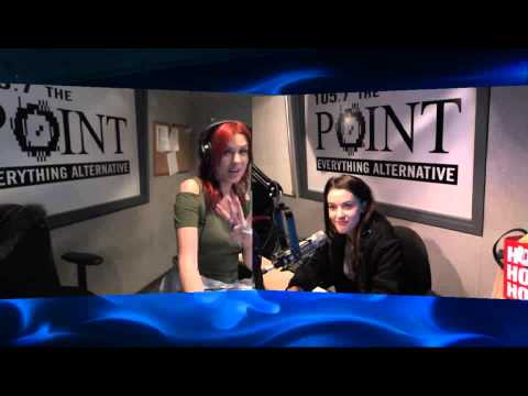 Meg Myers in studio with LuxonRadio