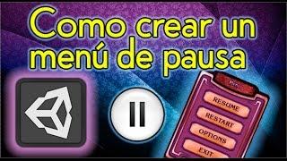 como crear un menu de pausa personalizado en unity3d para tus videojuegos