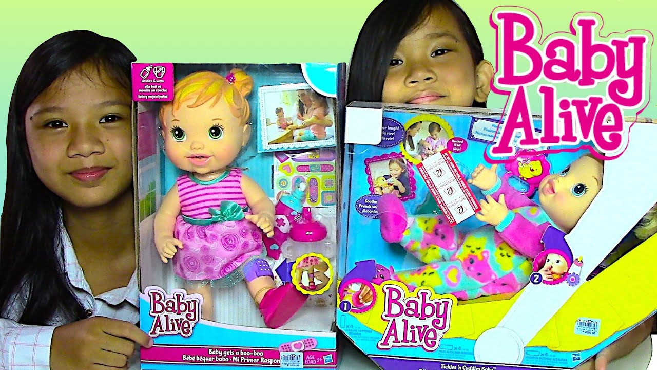 Baby Alive Baby Doll Gets a Boo Boo and Baby Alive Tickles n
