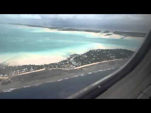 Flight - Nauru to Tarawa Landing Approach