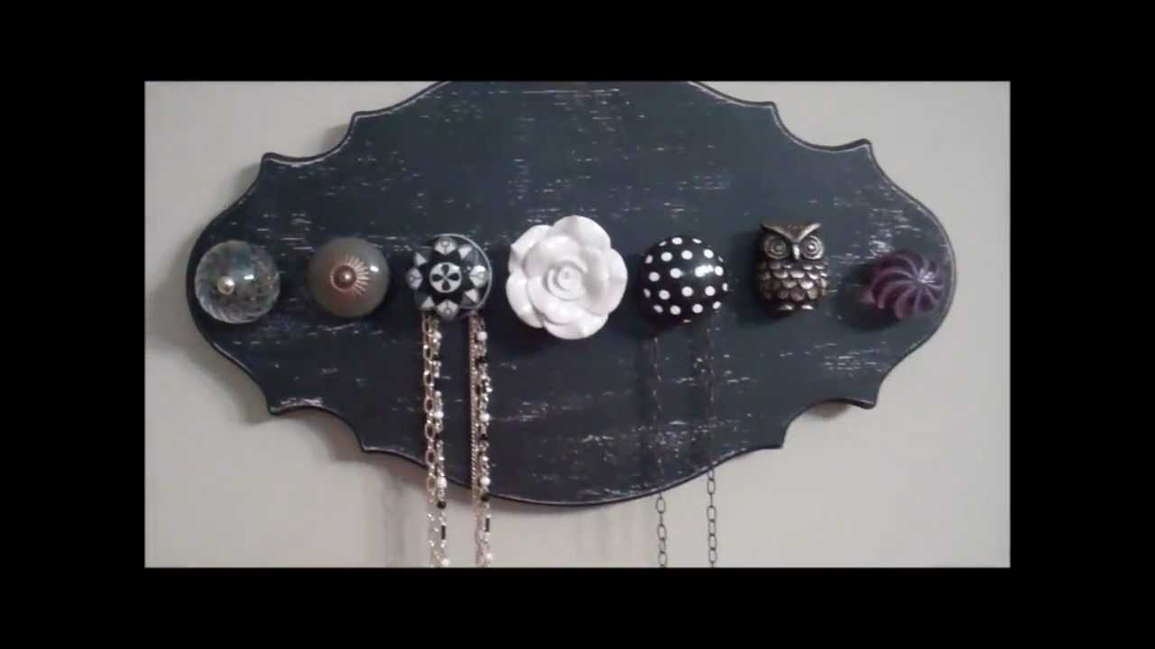 How to DIY Knob Necklace Holder YouTube