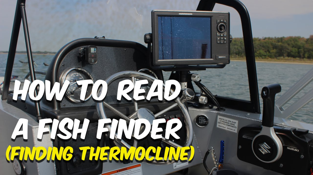 How to read a fish finder finding thermocline youtube for How to read fish finder