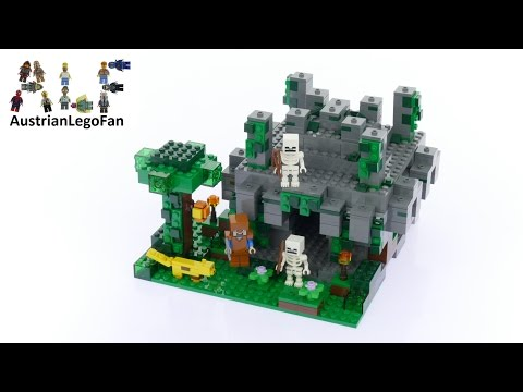 Lego Minecraft 21132 The Jungle Temple - Lego Speed Build Review