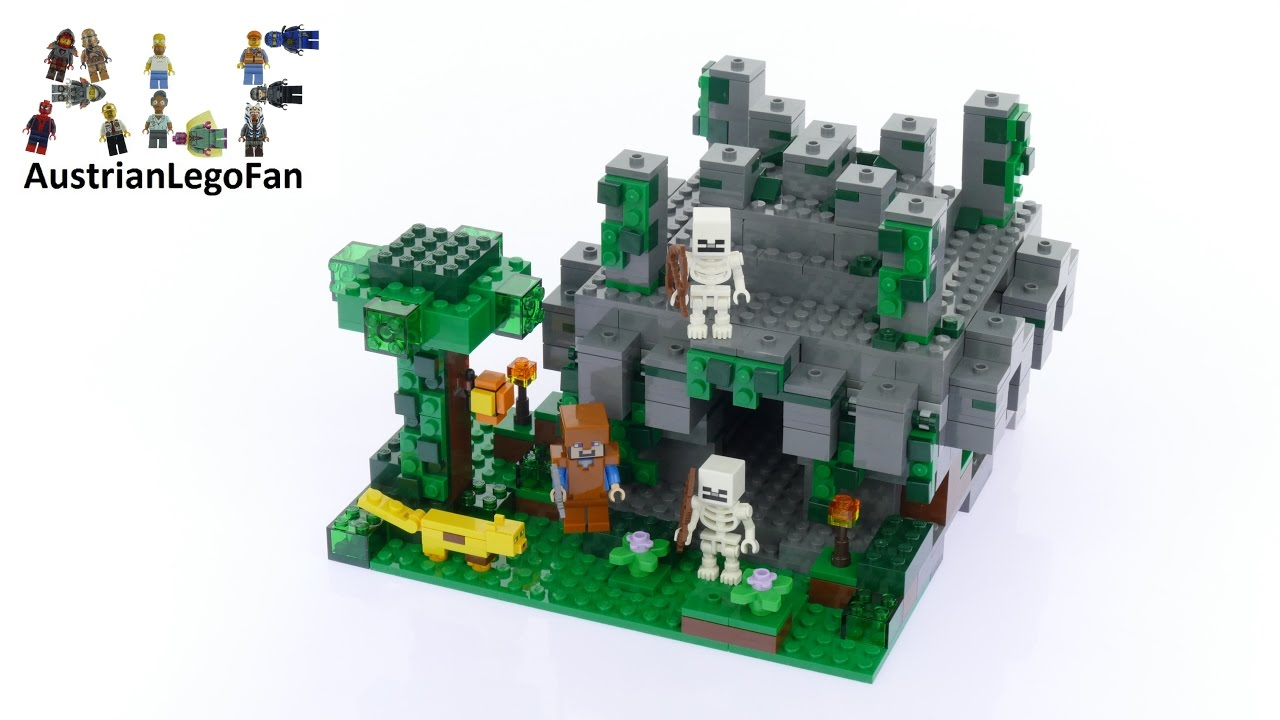 Lego Minecraft 21132 The Jungle Temple - Lego Speed Build ...