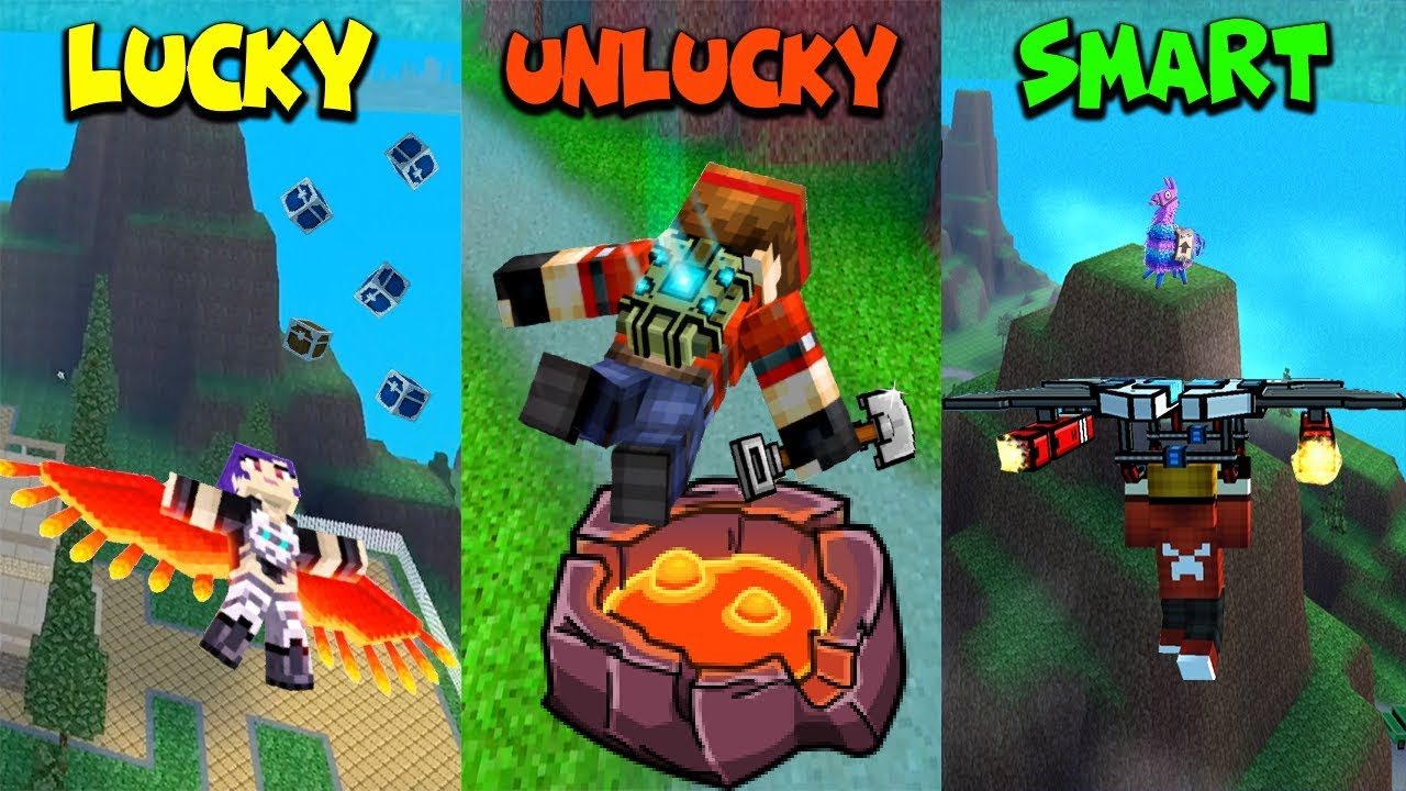 lucky-vs-unlucky-vs-smart-battle-royale-edition-pixel-gun-3d