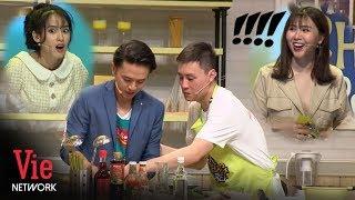 """Heo Mi Nhon """"khô lời"""" khi thấy chồng Tú Vi bất chấp xin đồ ăn của Kiên Hoàng l VieTalents Official"""