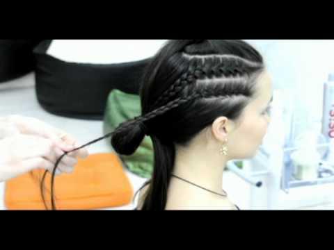 Плетём модные косички c WomanJournal.ru - Клубная причёска