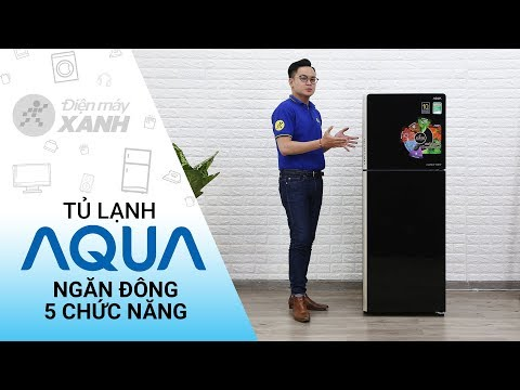 Tủ lạnh Aqua Inveter 235 lít: ngăn đông có 5 chức năng (AQR-IG248EN-GB)   Điện máy XANH